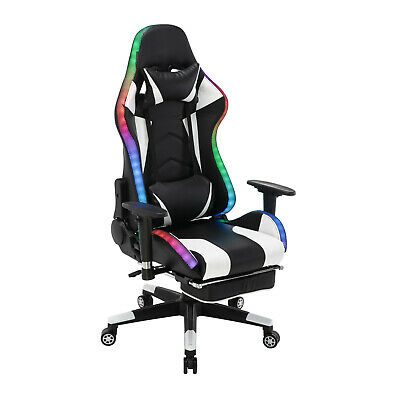AU26.90 • Buy Advwin Gaming Chair PU Leather Office Seat Ergonomic Recliner Chair W/LED Light