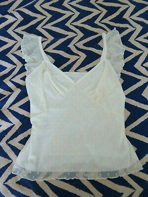 £0.99 • Buy Ladies Cream Sleeveless Top Small (guess Size 10/12)