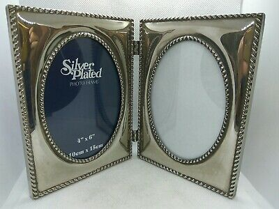 £25 • Buy Vintage Double Frame Silver Plated Photo Picture Frame 15x10 Cm