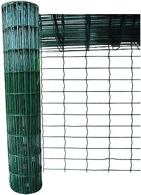 £36.99 • Buy Galvanised Wire PVC Mesh 0.9 X 10m Chicken Fencing Netting Green Outdoor Fence