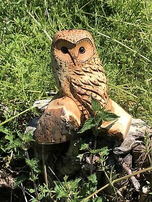 £45 • Buy Bespoke Chainsaw Owl Carvings In Wood OW1330