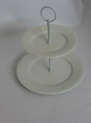 £11 • Buy Cake Stand, White Porcelain Cake Stand, Decorated Pretty Lace