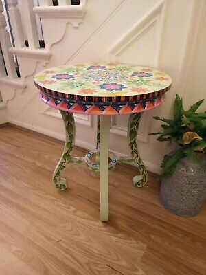 AU125.45 • Buy Hand Painted Sidetable/coffee Table With Mandela Design