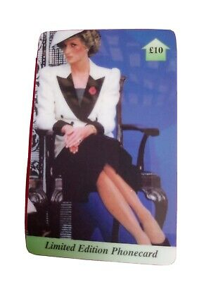 £1.10 • Buy Uk Phonecard. Princess Diana In Black And White Outfit. Ltd Edt. Plastic Card.