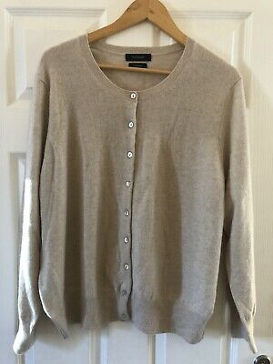 £35 • Buy M&S Autograph Oatmeal 100% Cashmere Cardigan Size 16 Great Condition Super Soft