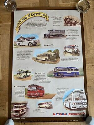 £35.95 • Buy National Express Coach Bus Company Advertising Poster - 1980