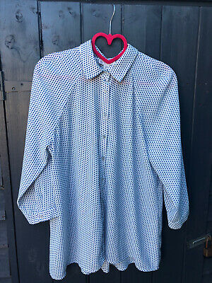 £1.99 • Buy Ladies TK Max Lila Rose Blouse White With Blue Pattern Size M Great Condition