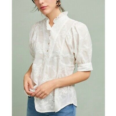 $ CDN60 • Buy Anthropologie White Embroidery Top