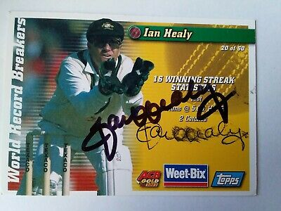 AU3 • Buy 2 Signed Cricket Cards Simon  Katich And Ian Healy