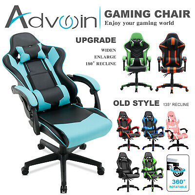 AU149.90 • Buy Advwin Computer Gaming Executive Chair Office PU Leather Recliner Racer Seat
