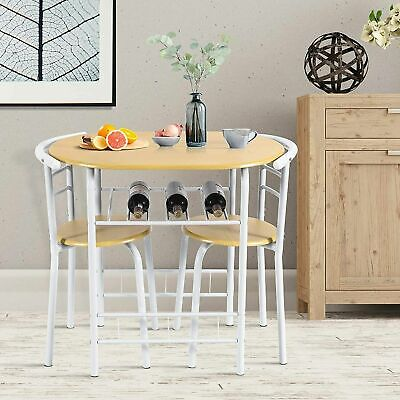 £59.99 • Buy Small Table And 2 Chair Breakfast Bar Kitchen Dining Room Modern Furniture Stool