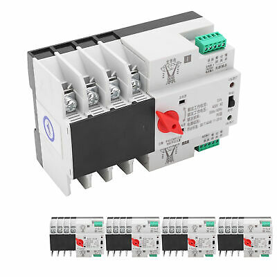 £30.88 • Buy New Automatic Transfer Switch Din Rail Mounted 3Phase 4Wire Power Control 400V