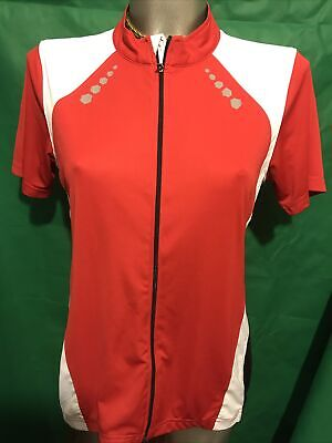 $8.27 • Buy Ladies Crivit Red Short Sleeved Cycling Shirt With Zip Pocket Size M 14/16 W801