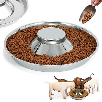 £12.29 • Buy Puppy Dog Pet Cat Litter Food Feeding Weaning Silver Stainless Feeder Bowl Dish