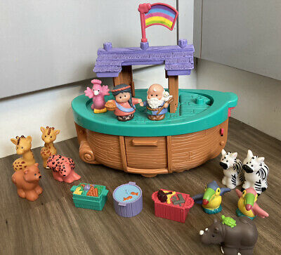£8.50 • Buy FISHER PRICE LITTLE PEOPLE NOAHS ARK/PLAYSET With Mr & Mrs NOAH, ANIMALS & Extrs