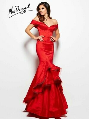 $155 • Buy Mac Duggal Prom Dress 48189M Size: 6 Color: Red