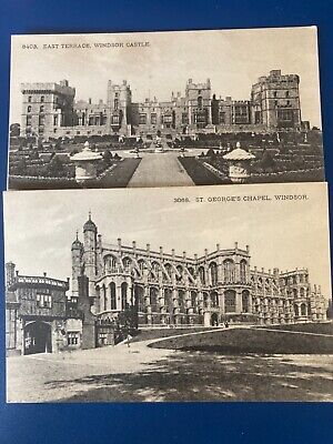 £1.20 • Buy Windsor Castle , Two Cards Same Series East Terrace And St George's Chapel
