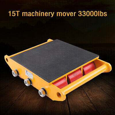 $142 • Buy 15 Ton Heavy Machine Dolly Skate Machinery Roller Mover Transporter 33000 Lbs