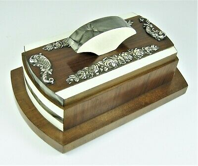 £56.19 • Buy Desk Ink Blotter Antique Sterling Silver Massive Wood And Phenolic Very Beautifu