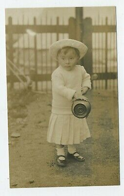 £3.19 • Buy Little Girl At Seaside With Bucket & Spade Real Photograph Postcard R4