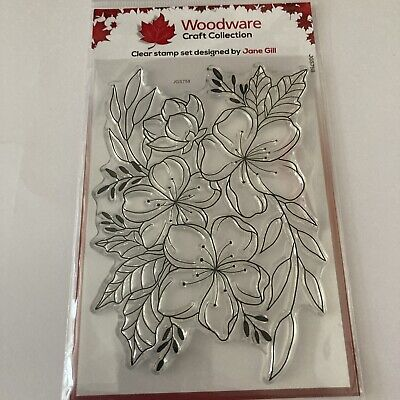 £2.65 • Buy Woodware Clear Craft Collection Floral Wonder Stamp Set