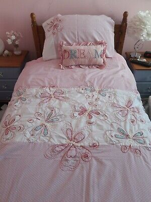 £20 • Buy Next Girls Butterfly Single Duvet Cover Set And Dream Cushion Vgc