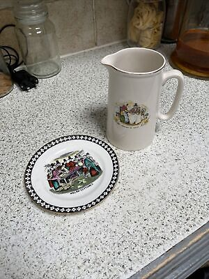 £5 • Buy Stanley China Plate Welsh Costumes  & JUG SOUVENIR OF WALES 6-77  POTTERY