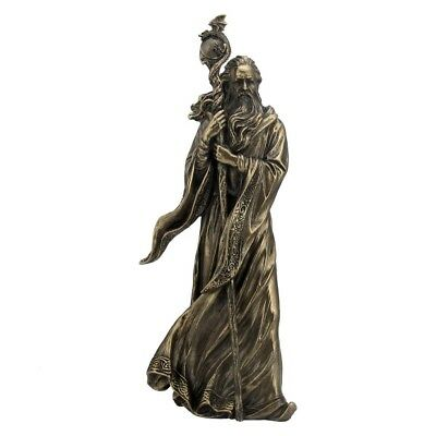 £47.50 • Buy Merlin Wizard With Staff  Mystical Magical Figure Cold Cast Bronze Statue.