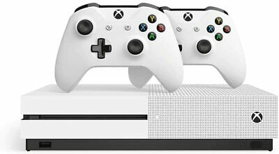 AU349 • Buy Microsoft Xbox One S 1TB Console White 2 Controller Charger HDMI Digital Tv Tune