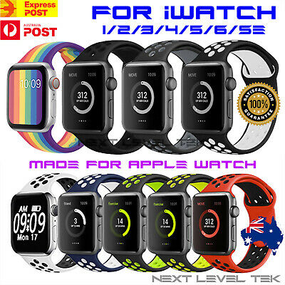 AU8.99 • Buy Silicone Nike Sport Strap For Apple Watch Band 38/40/42/44mm Series SE 6 5 4 321