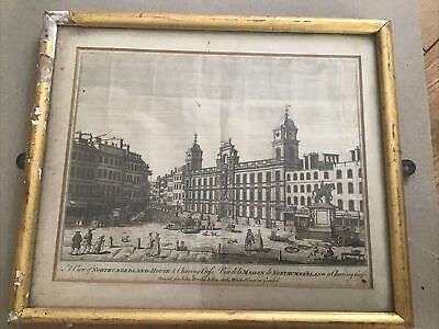 £29.99 • Buy Mid 18th Century Engraving Of Northumberland House  & Charring Cross London