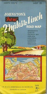 £10 • Buy Map Of North Wales - Vintage - C.1950 - Full Colour - Excellent Condition