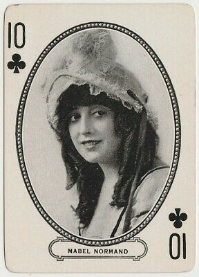 $10.99 • Buy Mabel Normand Circa 1916-20 MJ Moriarty Silent Film Star Playing Card