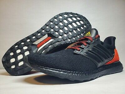 AU173.68 • Buy (New Men's 15) Adidas Ultra Boost DNA Black Orange Red Running Shoes (FW4899)