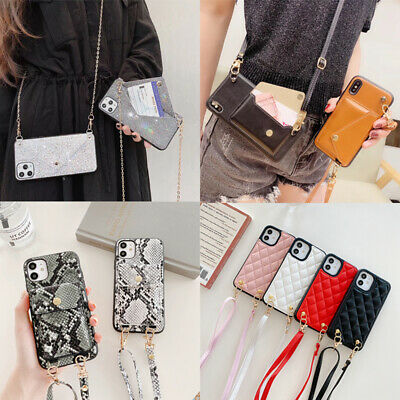 AU14.99 • Buy Bling Glitter Crossbody Case Leather Wallet For IPhone 12 11 Pro Max X XS XR 7 8