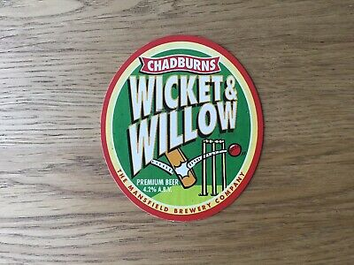 £9.99 • Buy Very Rare Chadburns Brewery Wicket & Willow Pump Clip Cricket Theme Mansfield