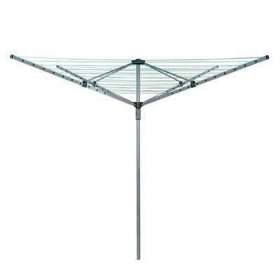 £31.99 • Buy 4 Arm 50M Rotary Outdoor Washing Line Airer Clothes Dryer + Free Cover & Spike