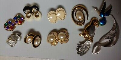 $ CDN25.52 • Buy Vintage Jewelry LOT Crown Trifari MONET Napier LC, GERRY'S Signed & Unsigned