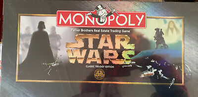 £45 • Buy Monopoly Star Wars Classic Trilogy Edition USA 1997 Brand New Sealed