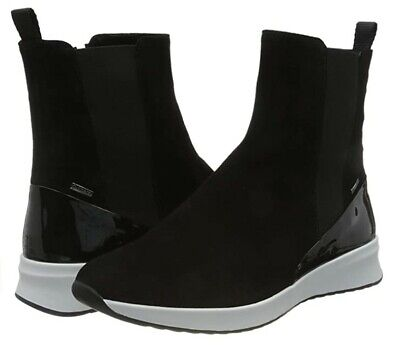 £70 • Buy HÖGL Women's Dry Track Black Suede & Patent Ankle Boot White Platform UK5.5/38.5