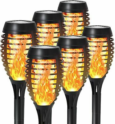 £18.99 • Buy 2/4/6 Pcs Solar Dancing Flame LED Torch Stake Flickering Outdoor Garden Light