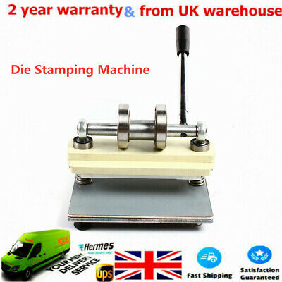 £118 • Buy PVC Manual Die Cutting Machine Leather Punch Press Embossing Cutter UK STOCK