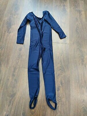 £5.99 • Buy Childrens Dance Catsuit All In One Dance Gymnastic Navy Blue Age 9-10 Long/Slv