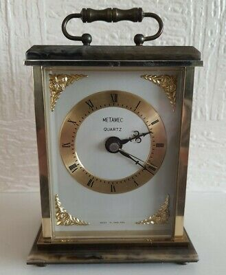 £18.50 • Buy Metamec Carriage Clock Brass / Faux Onyx Base And Top
