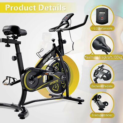£181.41 • Buy Exercise Bike, Indoor Bike With LCD Console, Comfortable Seat Cushion