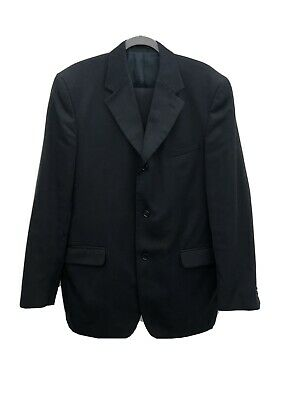 """£6.10 • Buy Mens Horne Brothers Black Pintstriped 2 Piece Suit In Size 42"""" Chest 36""""waist"""