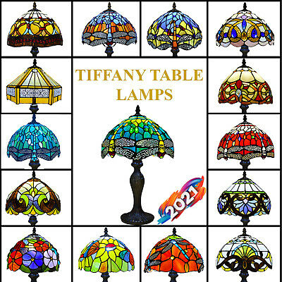 £61 • Buy Tiffany Table Lamp 10 Inch Handcraft Art Style Bedside Desk Lamps Stained Glass