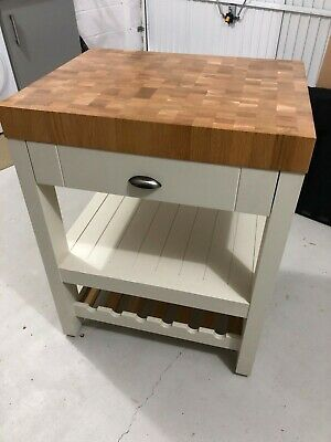 £245 • Buy Kitchen Butchers Block Trolley - Padstow Cream, Good Condition