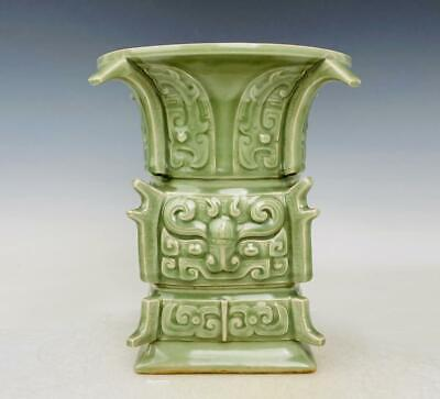 £289.72 • Buy Old Chinese Longquan Glaze Zun Pot With Marked (k1140)