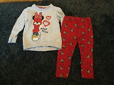 £1.50 • Buy Girls Minnie Mouse Jumper And Leggings Age 12-18 Months